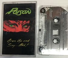 Poison Open Up And Say...Ahh! Cassette Tape 1988 Capital Records C4-48493