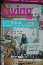 """LIVING ETC"" Magazine - Aug 2011 Issue - Simple Summer Style - Interiors Extra"