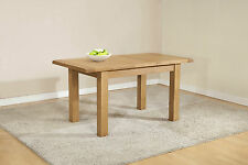 SOLID CHUNKY WOOD RUSTIC OAK NARROW SMALL EXTENDING DINING TABLE