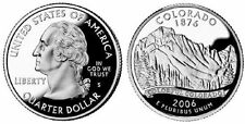 Two - 2006 S Colorado Silver Proof 25c Gem Cameo Rocky Mtns Quarter g1