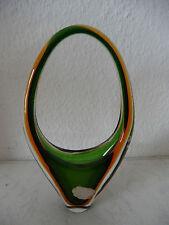 Murano Sommerso Design Glasschale / Henkelschale dreifarbig Venetian Glas (B285)