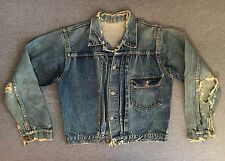 LEVIS DENIM JACKET 40s Vtg Type I 506xx WWII Jean Coat DISTRESSED Japan Stitched