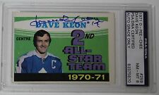DAVE KEON SIGNED 1971 O PEE CHEE HOCKEY CARD PSA/DNA AUTHENTICATED AUTOGRAPH