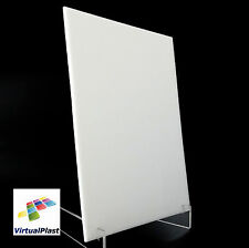 White Plexiglass Sheet 3mm Thick Cut 210mm x 300mm A4 Acrylic Perspex Plastic