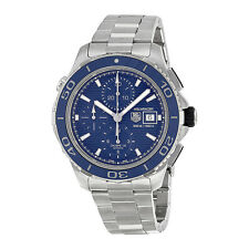 Tag Heuer Aquaracer Chronograph Blue Dial Stainless Steel Mens Watch