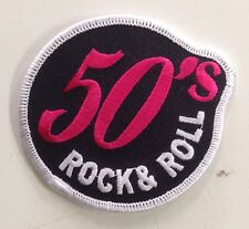 50's ROCK & ROLL CLOTH PATCH ROCK AND ROLL MUSIC 50's 60's JUKEBOX ELVIS
