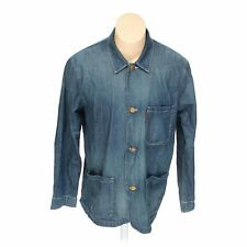 Mens LEVIS Engineer Coat Jacket Dark Wash 7.75 oz Denim sz XL EUC Z186