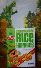 So-Hi 1964 Post Rice Krinkles Cereal Box Repro Ford Mustang model offer asian