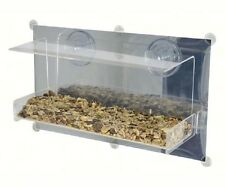 Bird Feeder Clear View Deluxe Open Diner Mirrored Window Feeder.