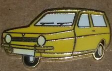 ROBIN RELIANT ROBIN YELLOW ENAMEL LAPEL BADGE three wheeler del boy peckham