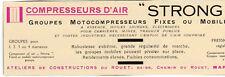 13 STRONG COMPRESSEUR D AIR ROUET MARSEILLE PARIS PUBLICITE PUB 1929 FRENCH AD