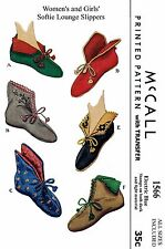 Felt Fabric SLIPPER Shoe Sewing Pattern McCall's #1566 Vintage 50s Boot Slippers