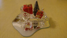 Swarovski Crystal Sleigh 205165 Silver Crystal RETIRED Box Presents Tree