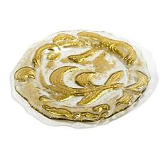 "Intrada Italy Vetro Ramajat Gold Glass Charger 12.5"" D Set of 4 Made in Italy"