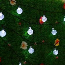 Led Solar Power Fairy Light String Strip Lamp Party Christmas Garden Decoration