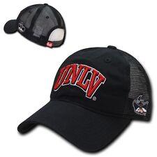 NCAA UNLV Nevada Las Vegas University Relaxed Trucker Mesh Caps Hats Black