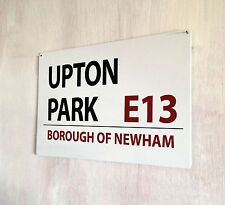 Upton Park West Ham Football street sign A4 metal plaque decor