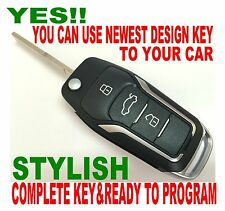 GT STYLE FLIP REMOTE FOB 2003-2006 FORD FOCUS C-MAX ALARM CONTROL CHIP KEY 2T