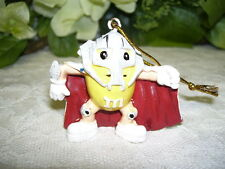 YELLOW M&M'S ORNAMENT IN SUPER HERO COSTUME