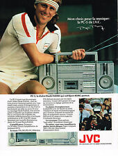 PUBLICITE ADVERTISING  1981   JVC  chaine hi-fi  BJORN BORG