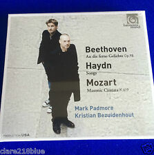 NEW SEALED Beethoven Haydn Mozart Padmore Bezuidenhout Op98 K619 Songs CD 2015