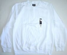 MENS Everlast Sport Solid White Casual Scoop Neck Sweatshirt Top Size L