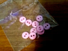 1O X8mm APROX 2 HOLE  ROUND BUTTONS  NICE PINK for DOLL .BABY CRAFT