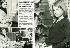 Coupure de Presse Clipping 1978 (2 pages) Isabelle Huppert