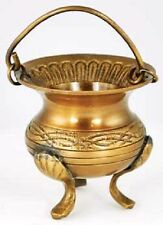 Celtic Brass Cauldron ICBR80 Wiccan Pagan Witchcraft Altar Supply