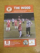 23/04/2016 Walsall Wood v Highgate United  . Thanks for viewing our item, if thi