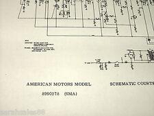 1956 Service Schematic s for AMERICAN MOTORS 8990378 6MA & MOPAR 910 911 Radio s