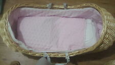 The Izzy-Pod ( The Snug) Wicker Moses Basket / Crib + Heavy Duty Stand /Dressing