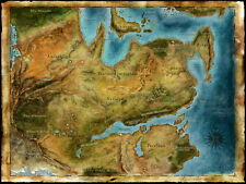 "01 Thedas Map Dragon Age Games Art 32""x24"" Poster"