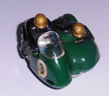 Scalextric B1 Typhoon motorcycle and sidecar. Large head/front skid. Motorbike