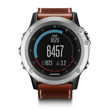 Garmin Fenix 3 Sapphire Multisport Sports Activity GPS Watch Silver/Leather Band