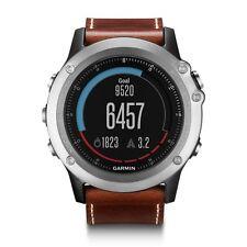 Garmin Fenix 3 Sapphire MultiSport orologio GPS attività sportiva Argento/Pelle Band