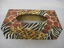 Animal long Tissue Box Cover Handcrafted wooden
