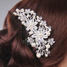 Elegant Pearl Crsytal Bridal Wedding Hair Comb Hair Pin Clip  Hair Accessory NEW