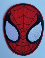 Spiderman Face Iron on Patch Sew on Patch transfer fancy dress