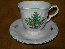 Nikko Happy Holidays Cup and Saucer/s  Christmas Tree