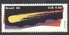 Brazil 1986 Halley's Comet/Space/Astronomy/Science/Scientists 1v (n38125)