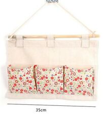 Hanging Organizer Bag Stationary Storage 3 Pocket Fabric Sundries Wall Door