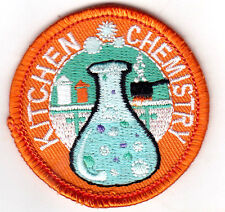"""KITCHEN CHEMISTRY""- IRON ON EMBROIDERED PATCH - SCHOOL - LEARNING - RESEARCH"