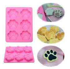 Dog Cat Paw Print Silicone Bakeware Mould Chocolate Mold Cookie Candy Soap Resin