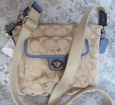 COACH PURSE, #F45026, Khaki with Lavender Patent Leather Swingpack, $148 NEW NWT