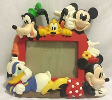 Vintage Disney Mickey Mouse 3D Picture Frame Goofy, Minnie, Donald, Pluto in RED