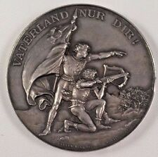 Swiss 1891 Silver Shooting Medal Zurich Winterthur Archer R-1746a Mintage-800