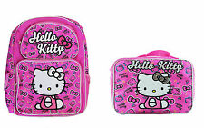 "Hello Kitty 16"" Backpack & Lunch Box for Kids - BRAND NEW"