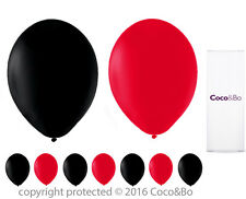 Coco&Bo 10 x Mad Hatter Tea Party Red & Black Balloons Alice in Wonderland