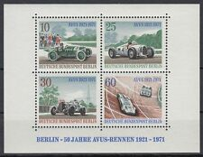 Germany Berlin 1971 ** Bl.3 Rennwagen Racing Cars Opel Mercedes AVUS Autos
